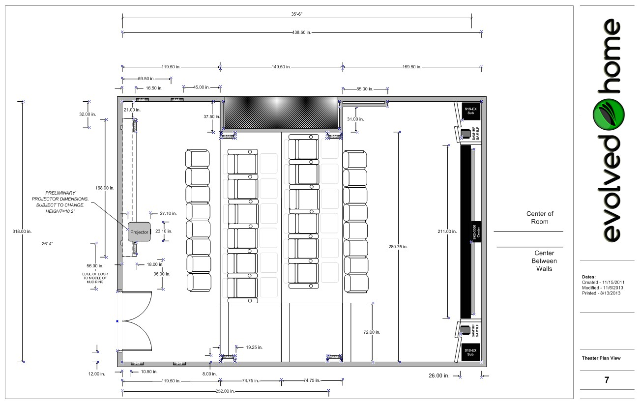 home theatre design plans