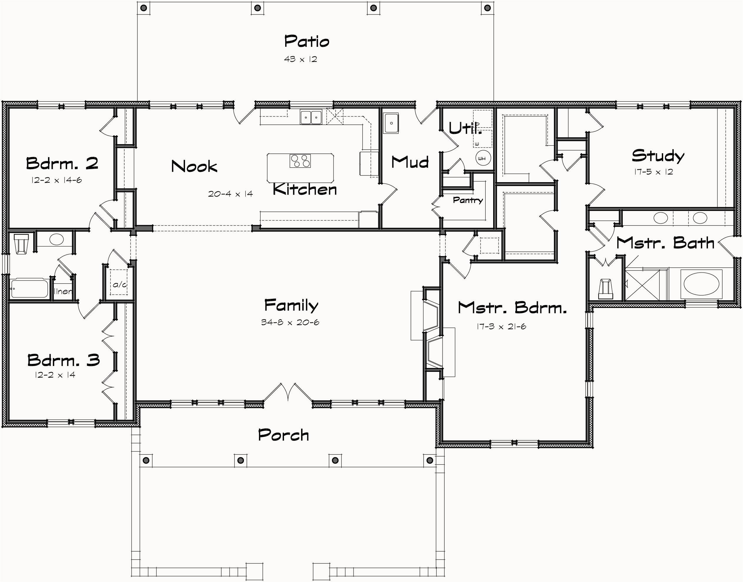 house plans with big mud rooms