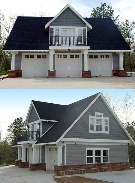 double duty 3 car garage cottage w living quarters hq plans pictures