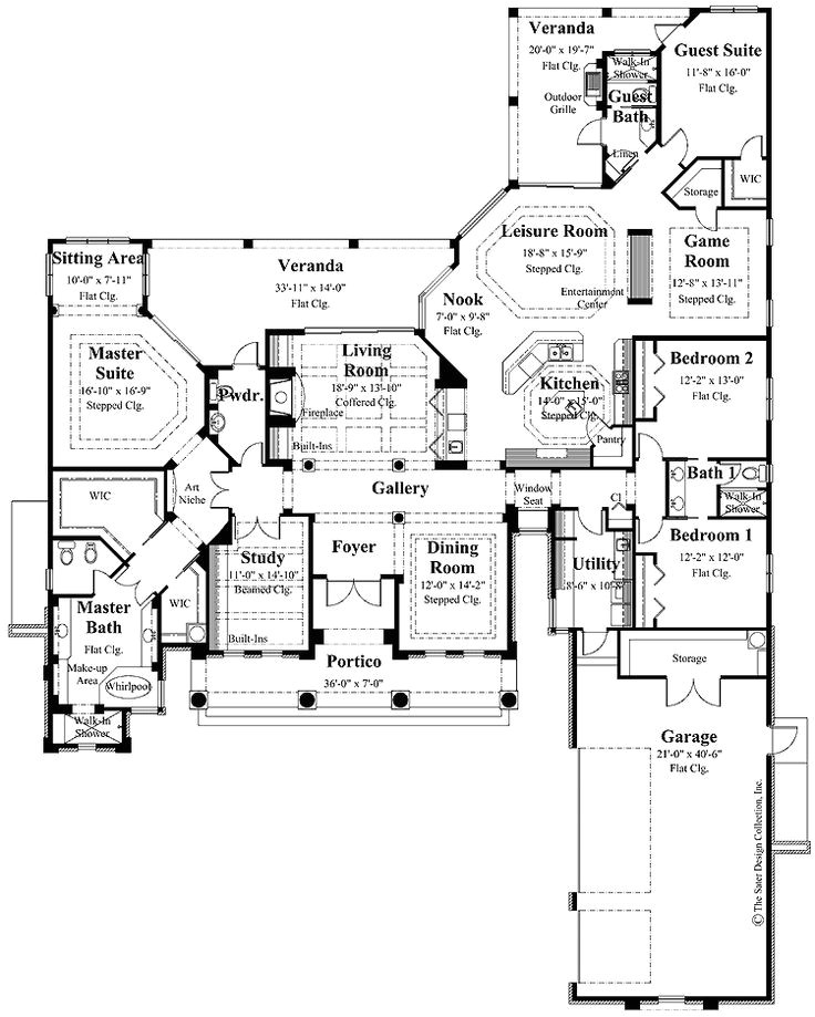 house plans with lots of storage