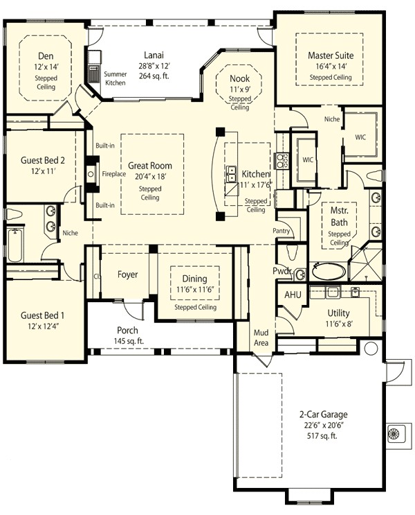 House Plans with Mudroom and Pantry Plan 33075zr Private Master Retreat Options Mud Rooms