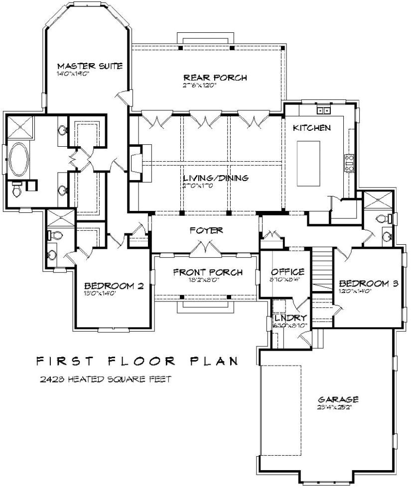 Beau House Plans No Dining Room