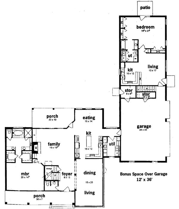 floor plans with separate inlaw quarters