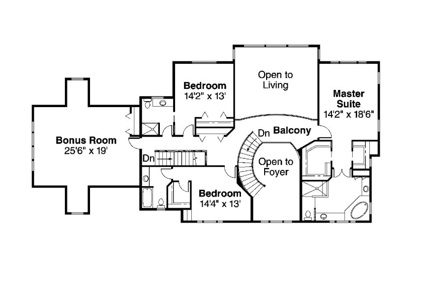 house plans with two bedrooms downstairs