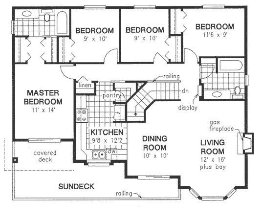 4 bedroom house plans with unfinished basement
