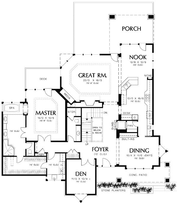 5 bedroom prairie plan with wine cellar 69240am