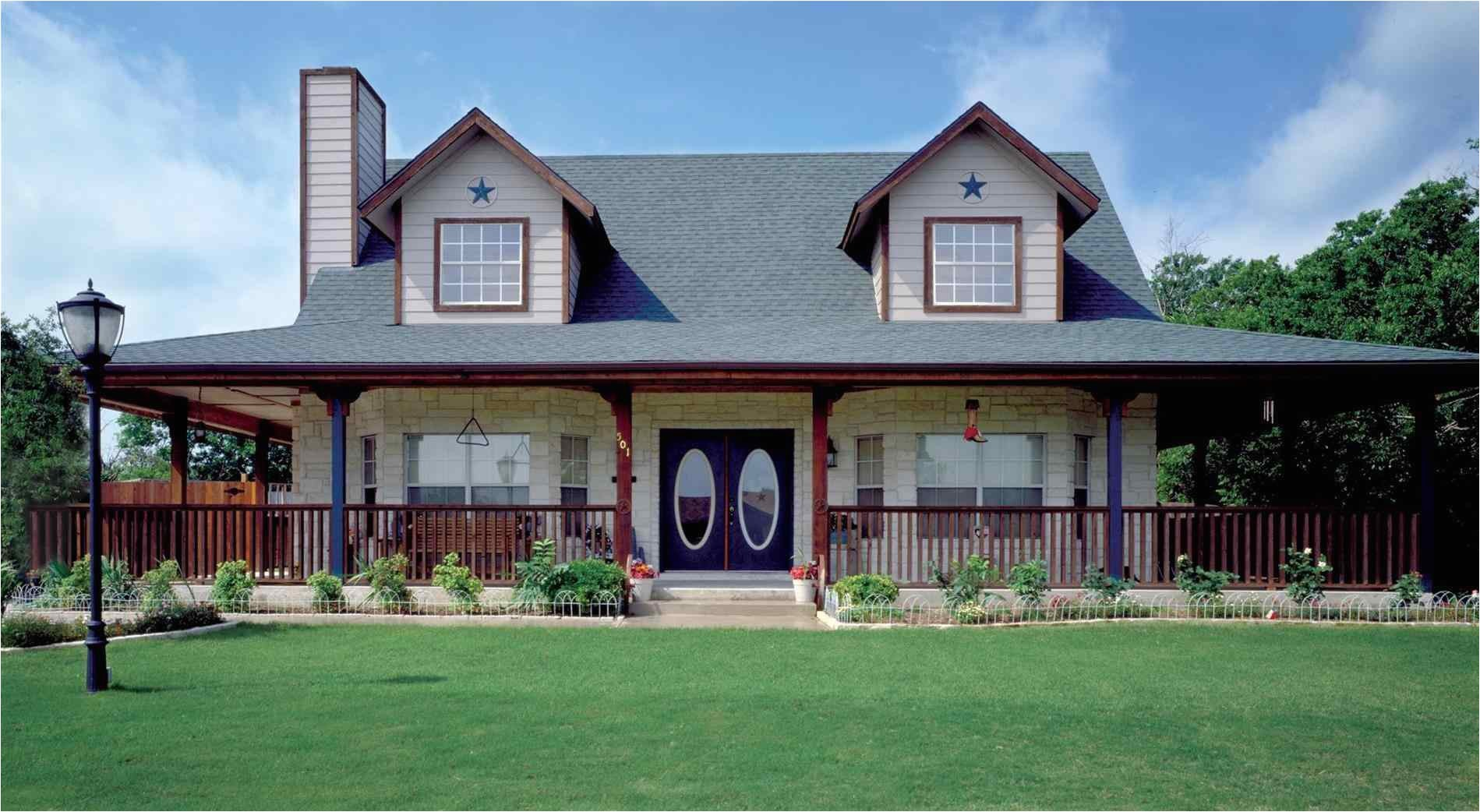 one story country homes with wrap around porch