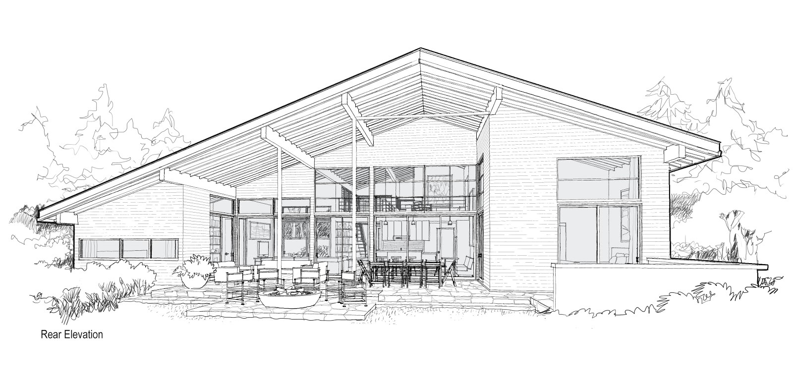 modern house plan 3 renderings