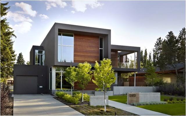 sd house modern exterior edmonton