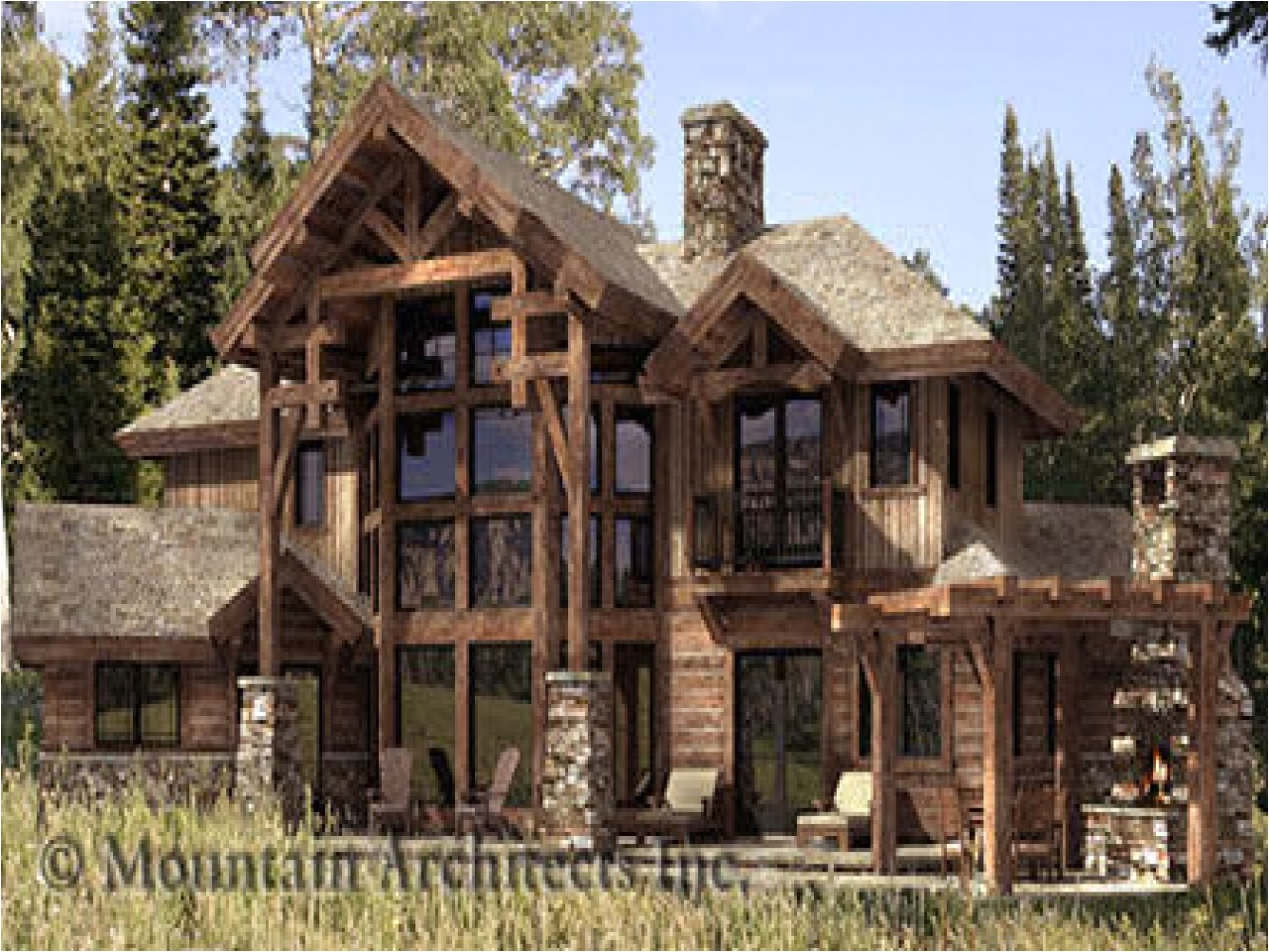 cd3ca73cb14a255d hybrid timber log home plans timber frame hybrid