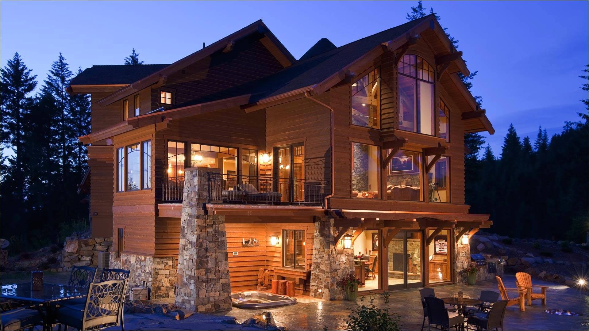 idaho mountain style home