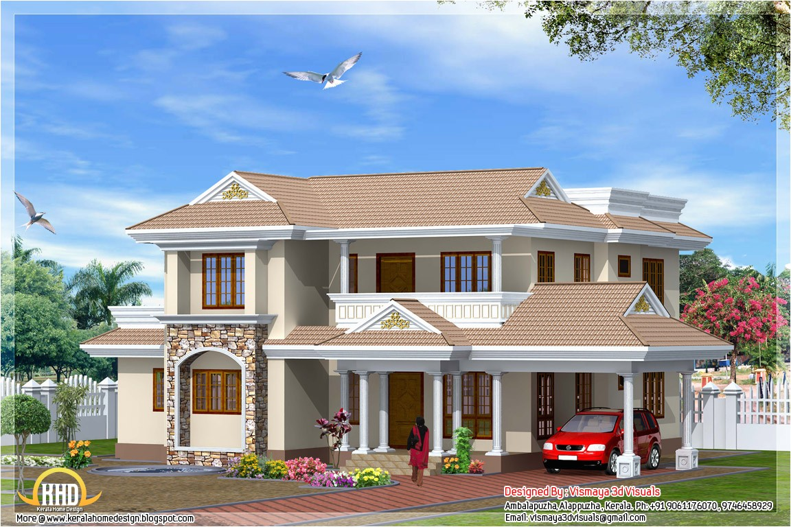 indian style 4 bedroom home design 2300