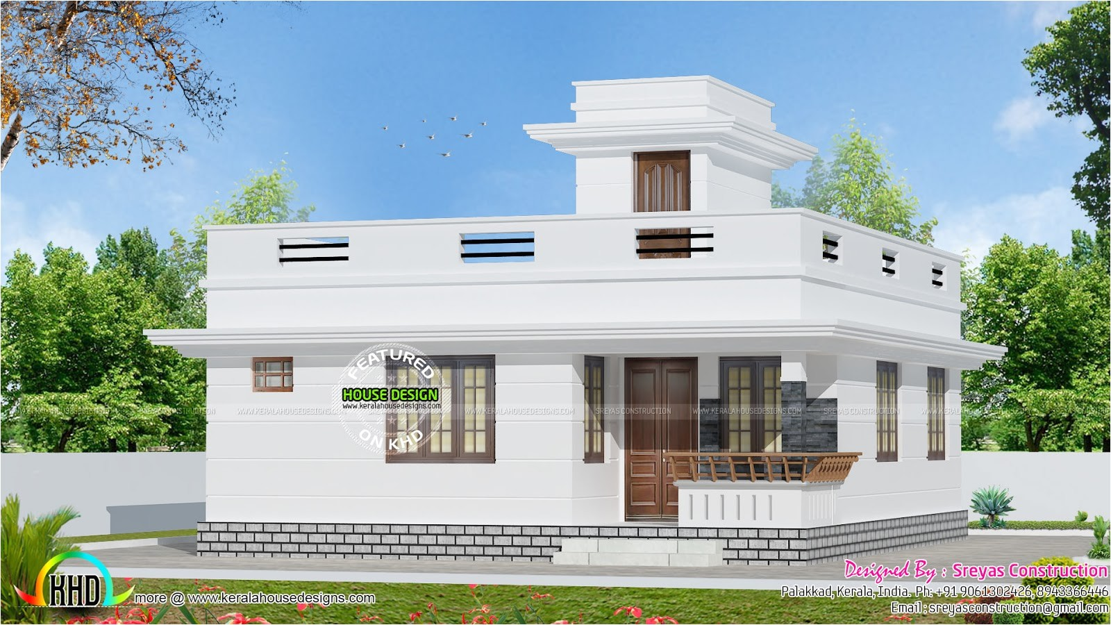 Indian Simple Home Design Plans 882 Sq Ft Small House Architecture