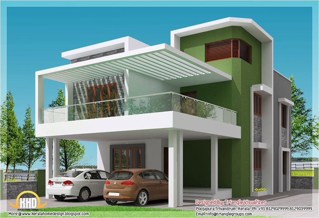 Indian Simple Home Design Plans Small Modern Homes Beautiful 4 Bhk Contemporary Modern