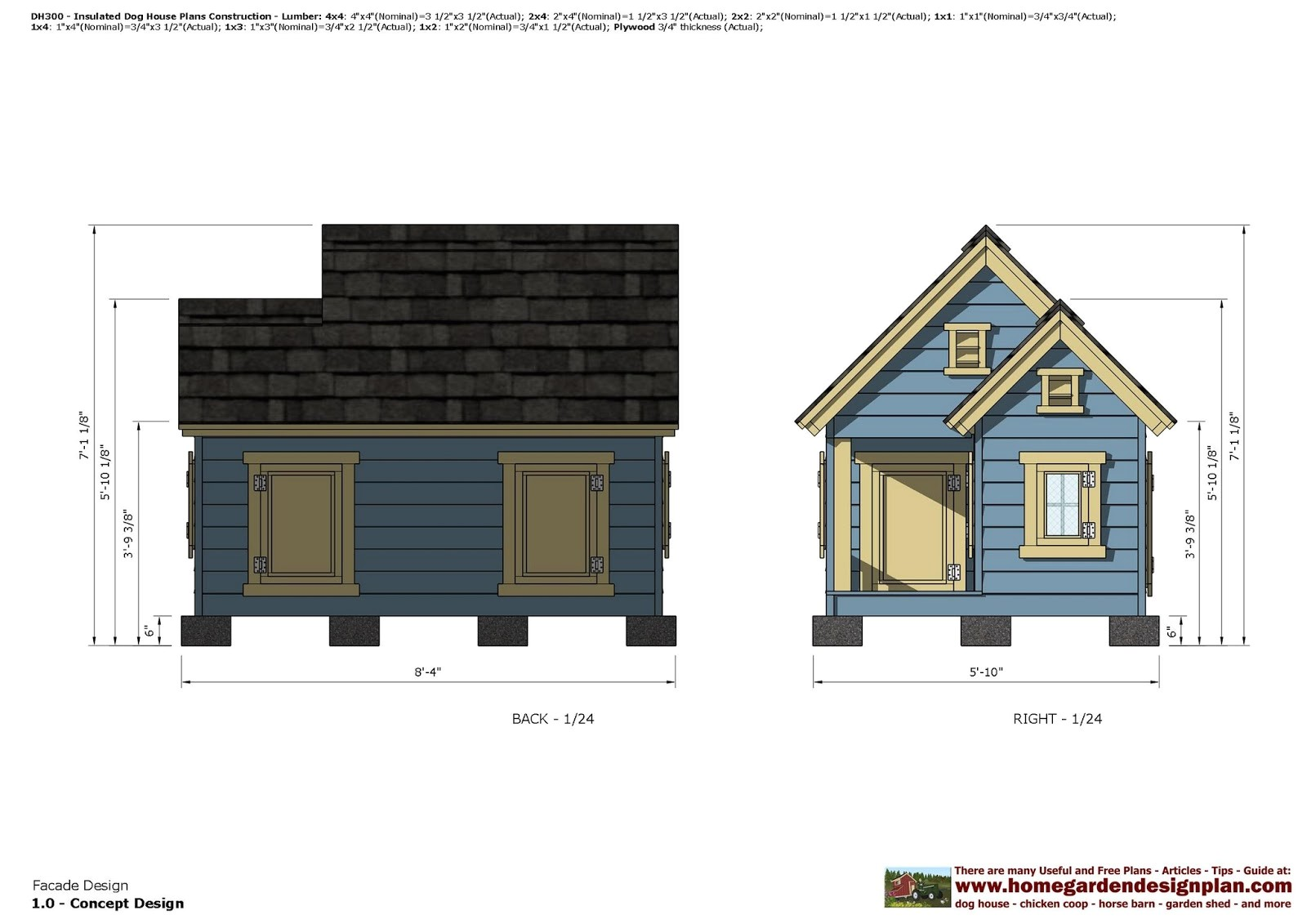 dh300 insulated dog house plans