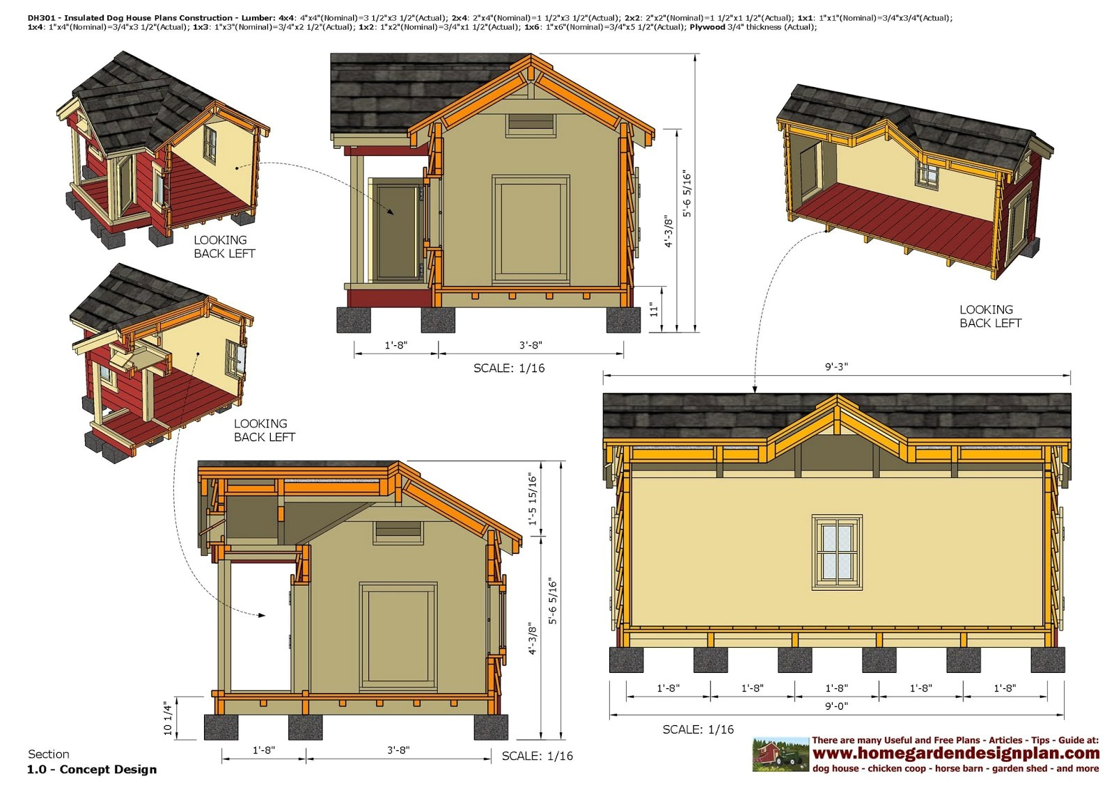 dh302 insulated dog house plans dog