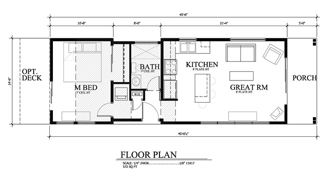 sledhaus luxury 572 square feet