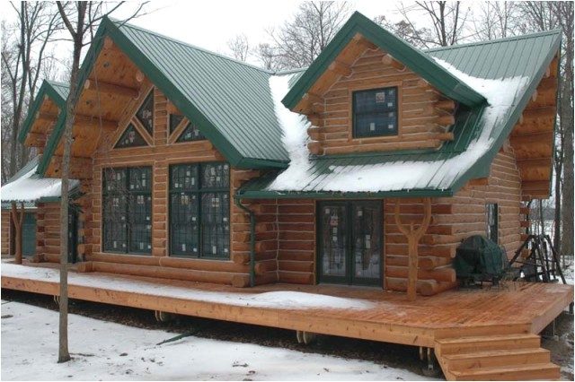 a beautifully designed log cabin for 56000