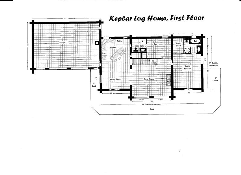 Keplar Log Home Floor Plan and 81 510 00 Set Up On Your Site Plus Del Boom