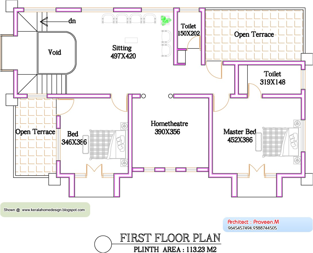 kerala home plan and elevation 2800 sq
