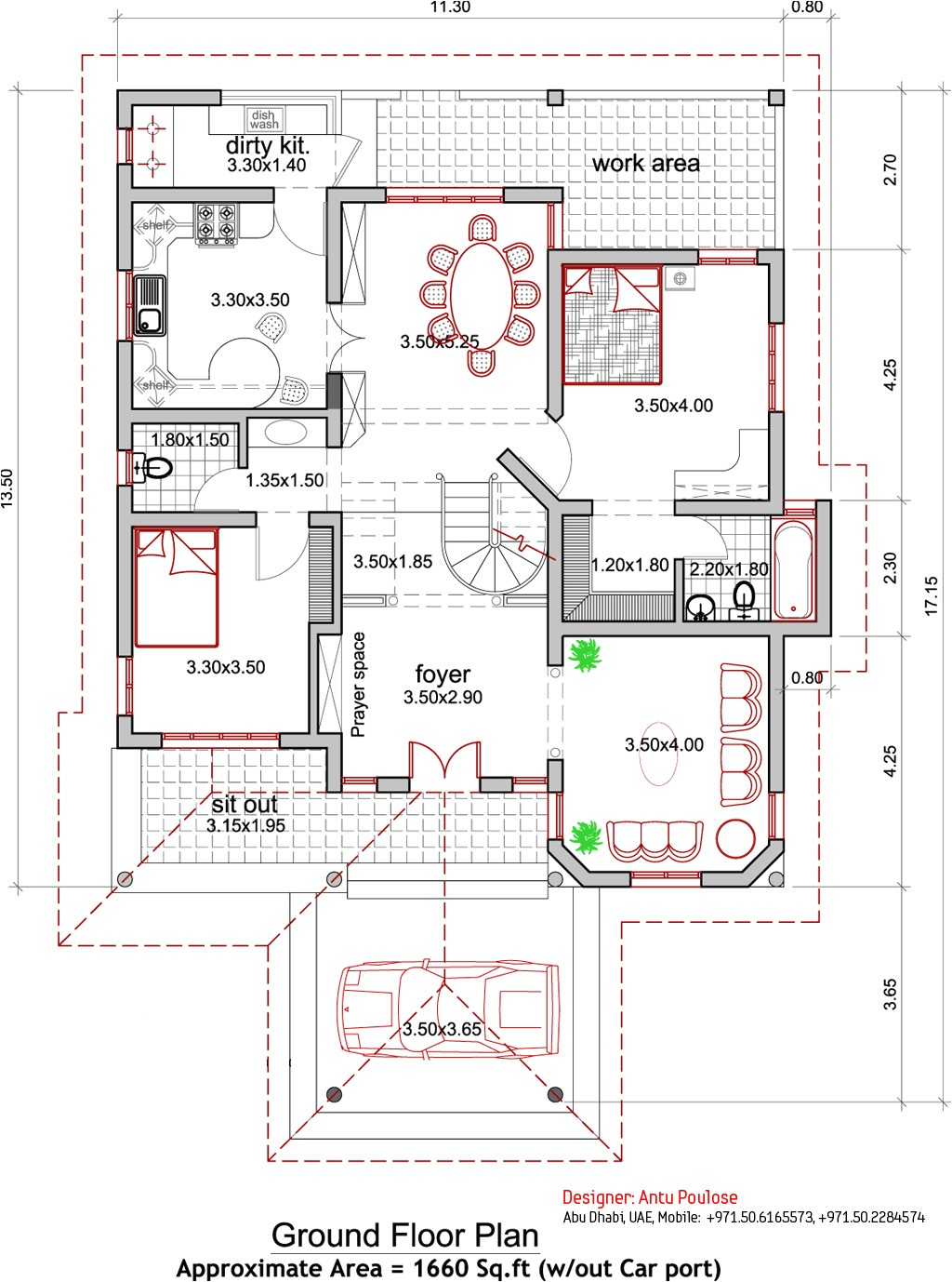 kerala house plan and elevation 2165 sq ft