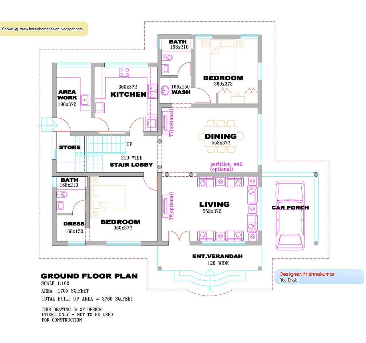 kerala villa design plan and elevation