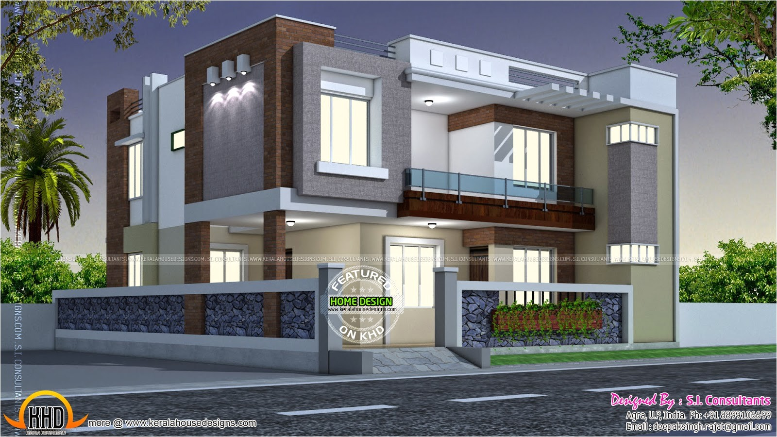 modern style indian home kerala design floor plans