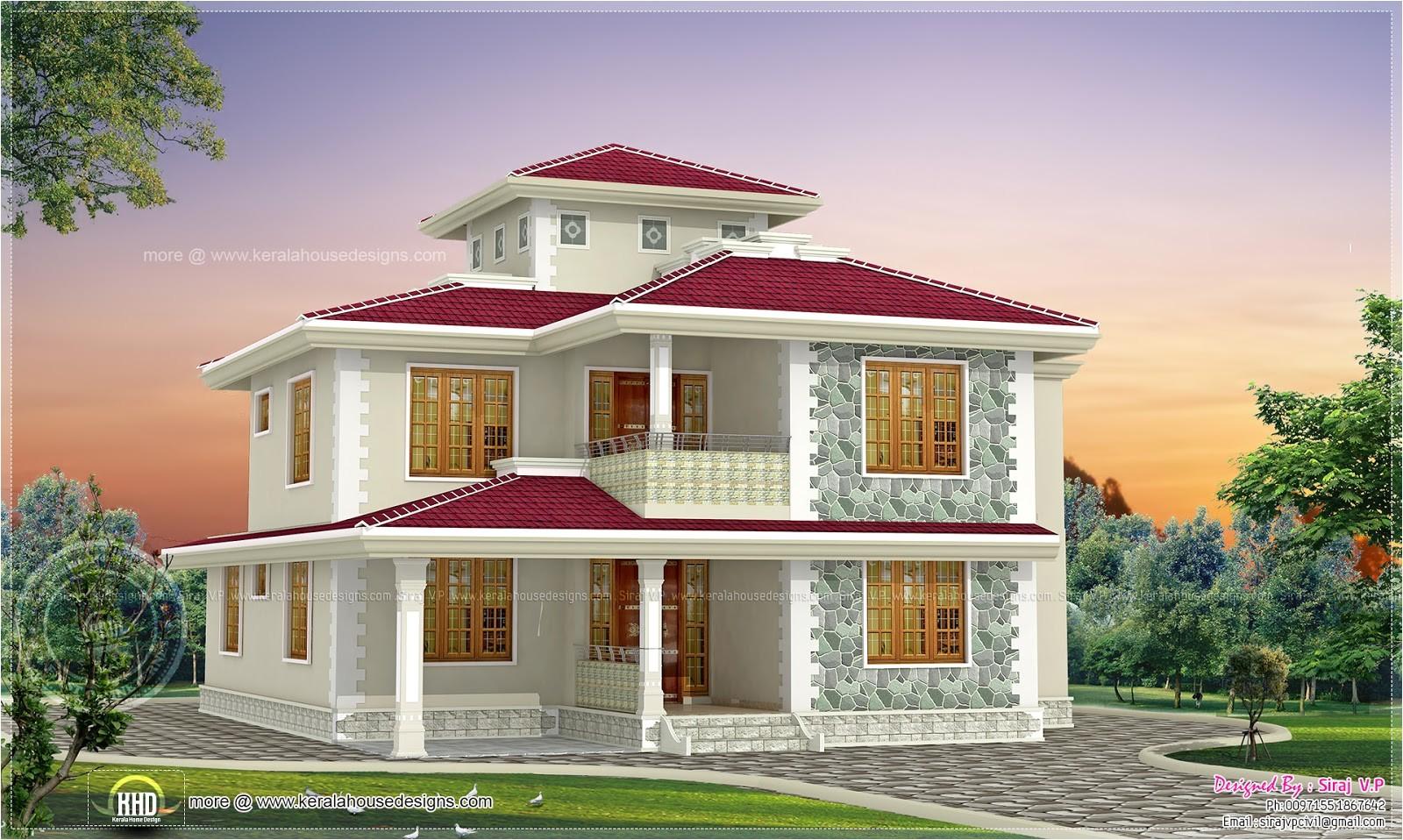 4 bhk kerala style home design