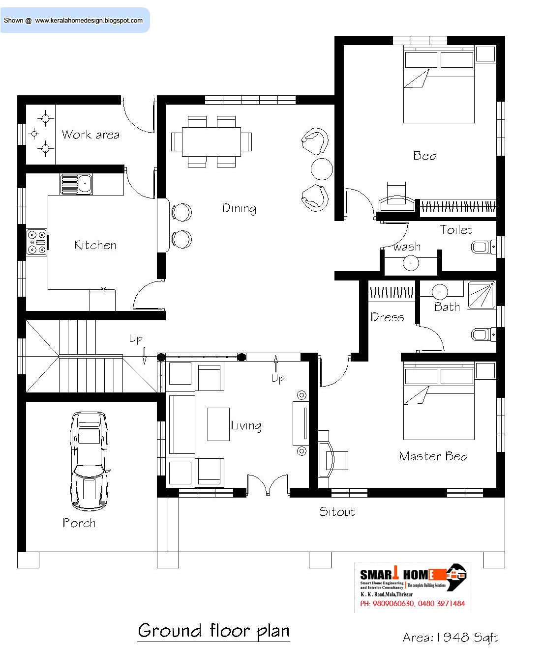kerala home plan and elevation 2811 sq