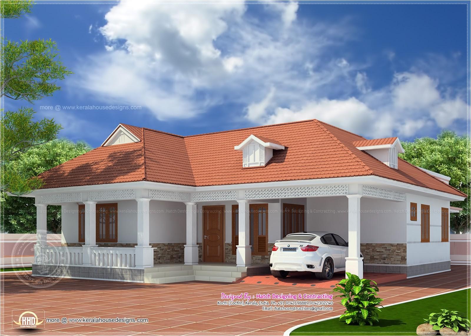 1850 sqfeet kerala style home elevation
