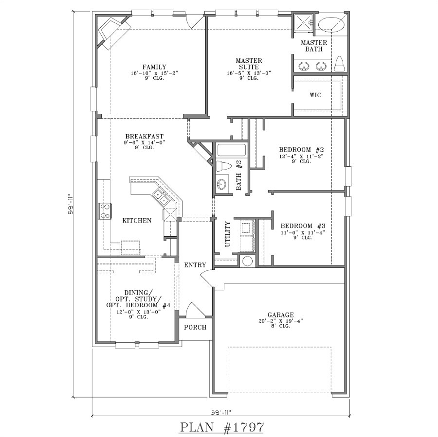 l shaped house plans for narrow lots