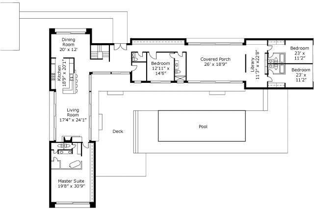l shaped home plans new 25 more 3 bedroom 3d floor plans l shaped house for narrow lots