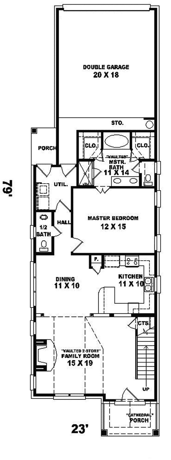 l shaped house plans for narrow lots fresh enderby park narrow lot home plan 087d 0099