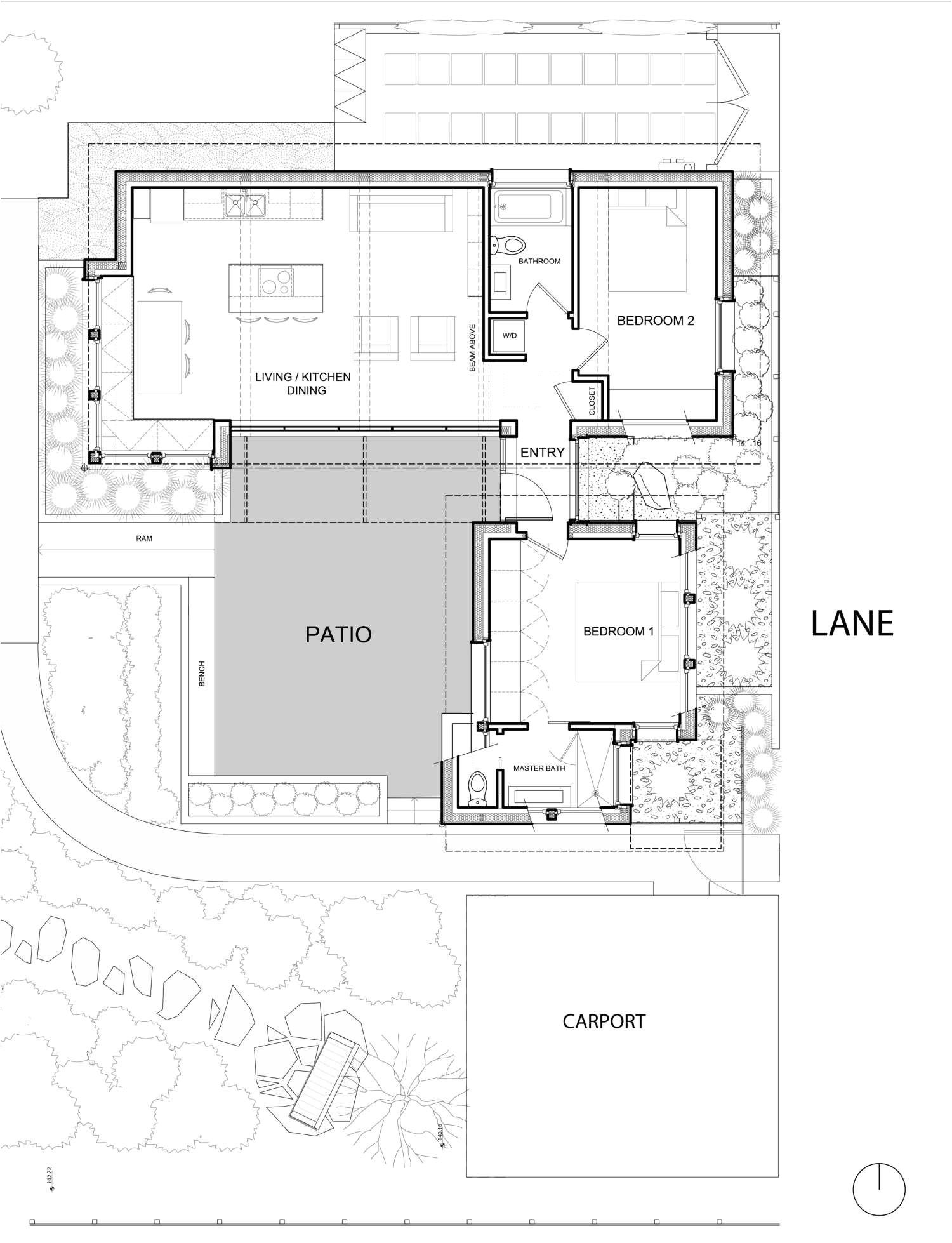 lanefab two birds laneway house floor plan via smallhousebliss