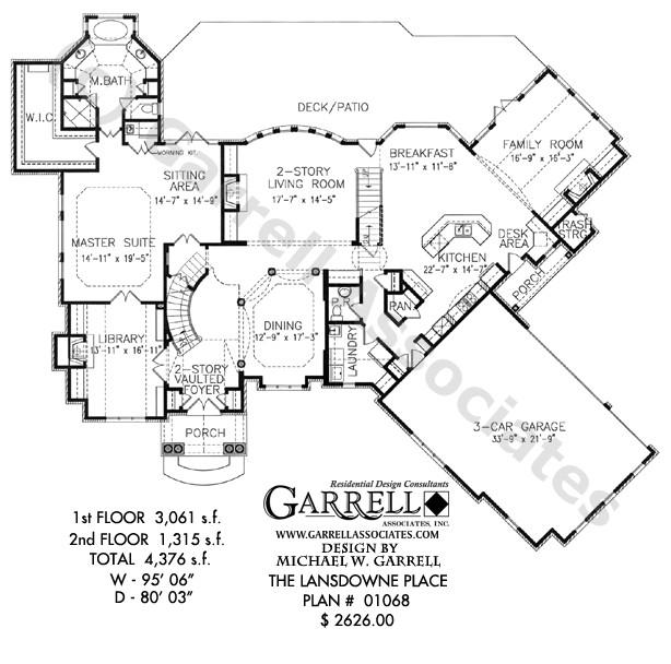 Lansdowne Place House Plan Lansdowne Place House Plan Estate Size