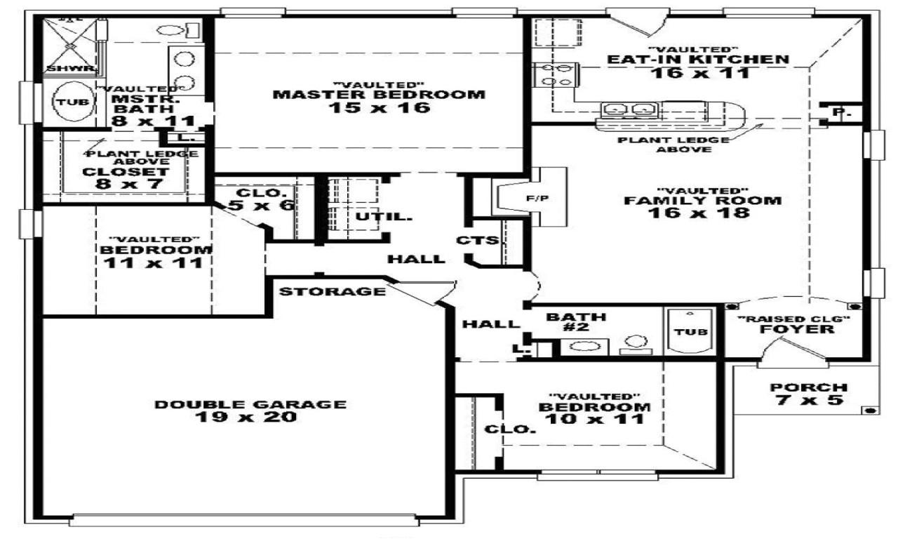 71b8956cd451d2ec 3 bedroom 2 bath 46701 3 bedroom 2 bath 1 story house plans