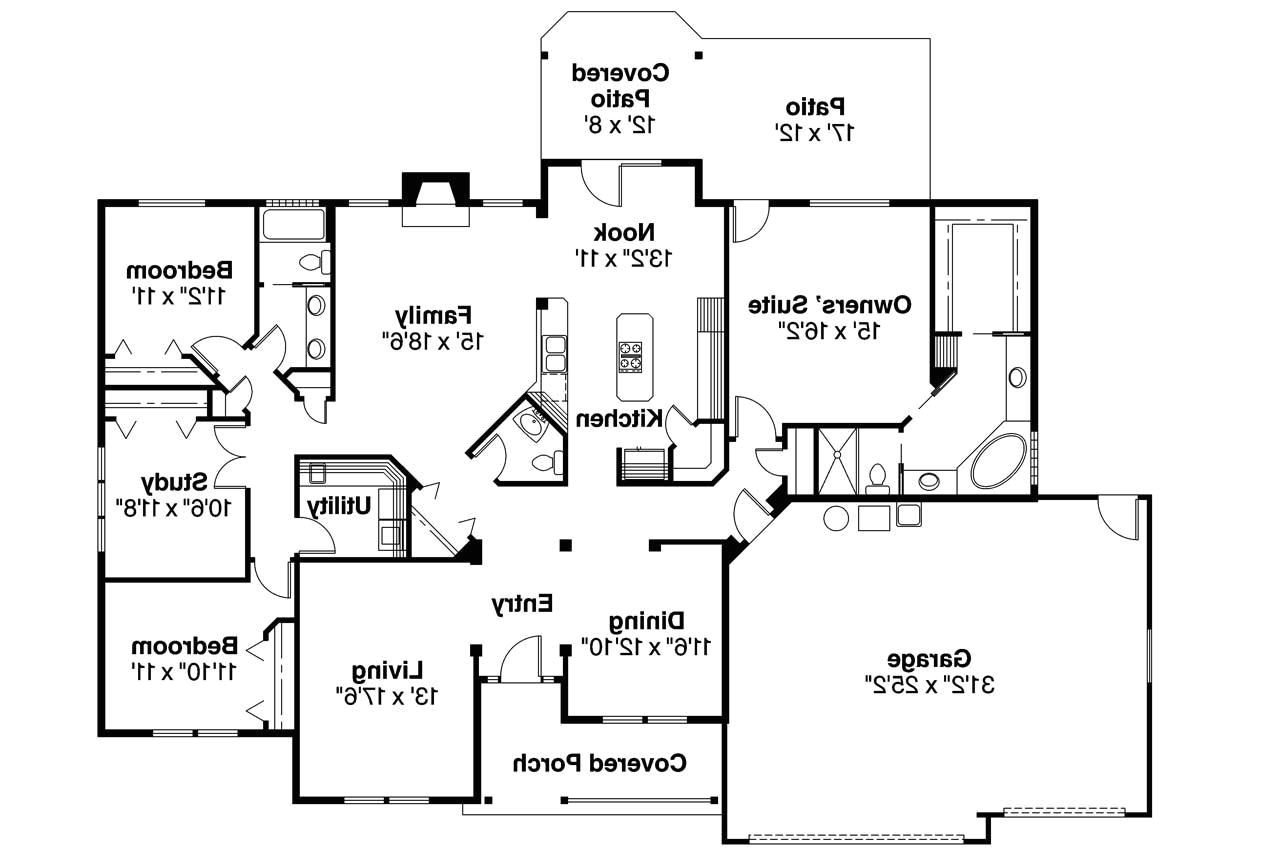 large one story ranch house plans