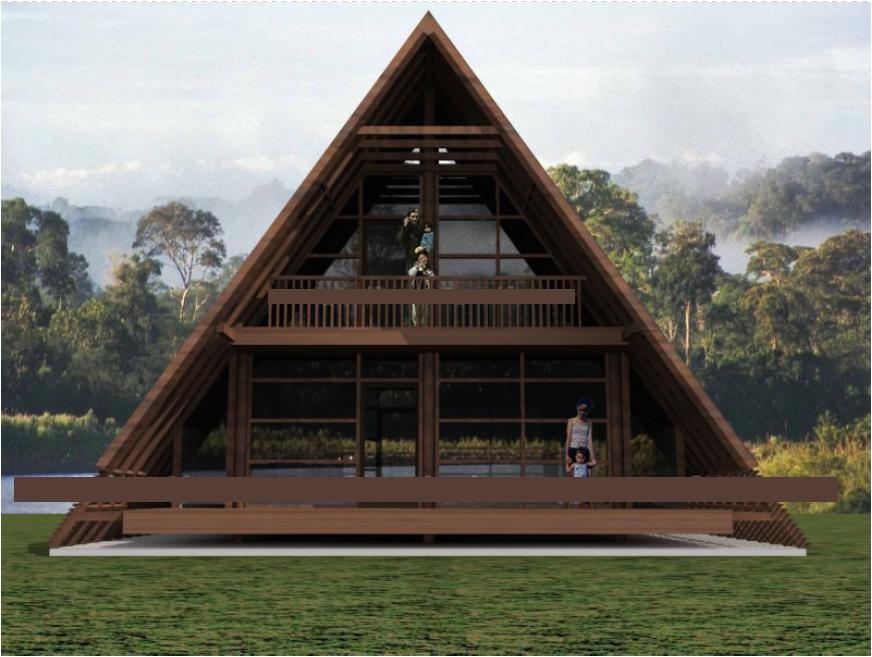 modern a frame house style
