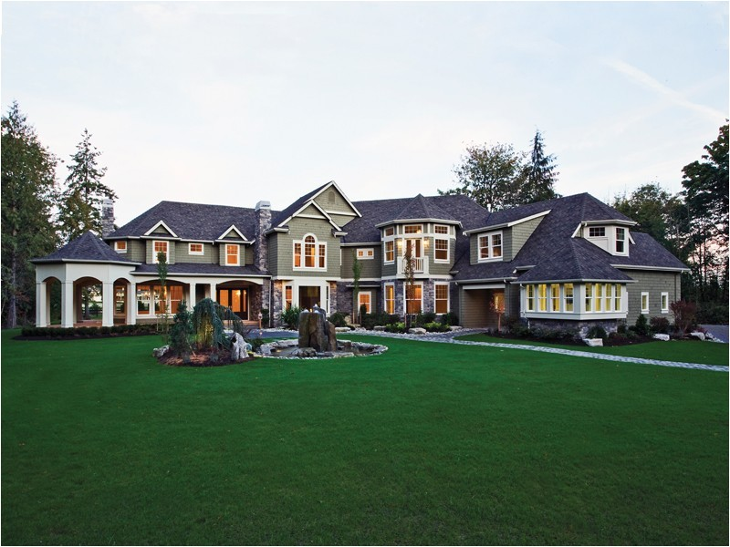 luxury mansions house plans with greenland design