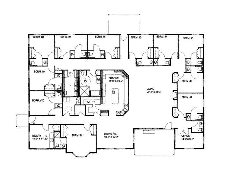 Large Ranch Style Home Floor Plans Large Ranch House Plans Smalltowndjs Com