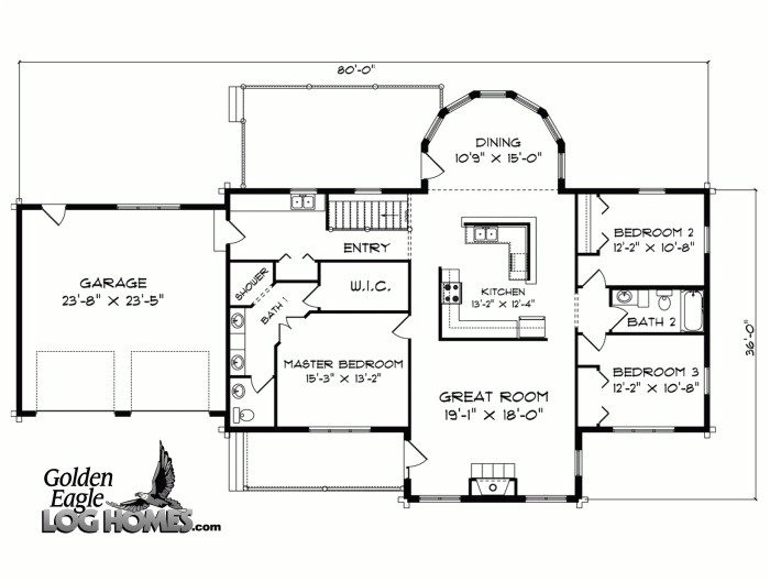 large ranch style house plans beautiful log cabins floor plans source