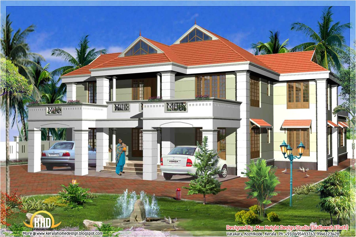 kerala model house elevations home design floor plans 2