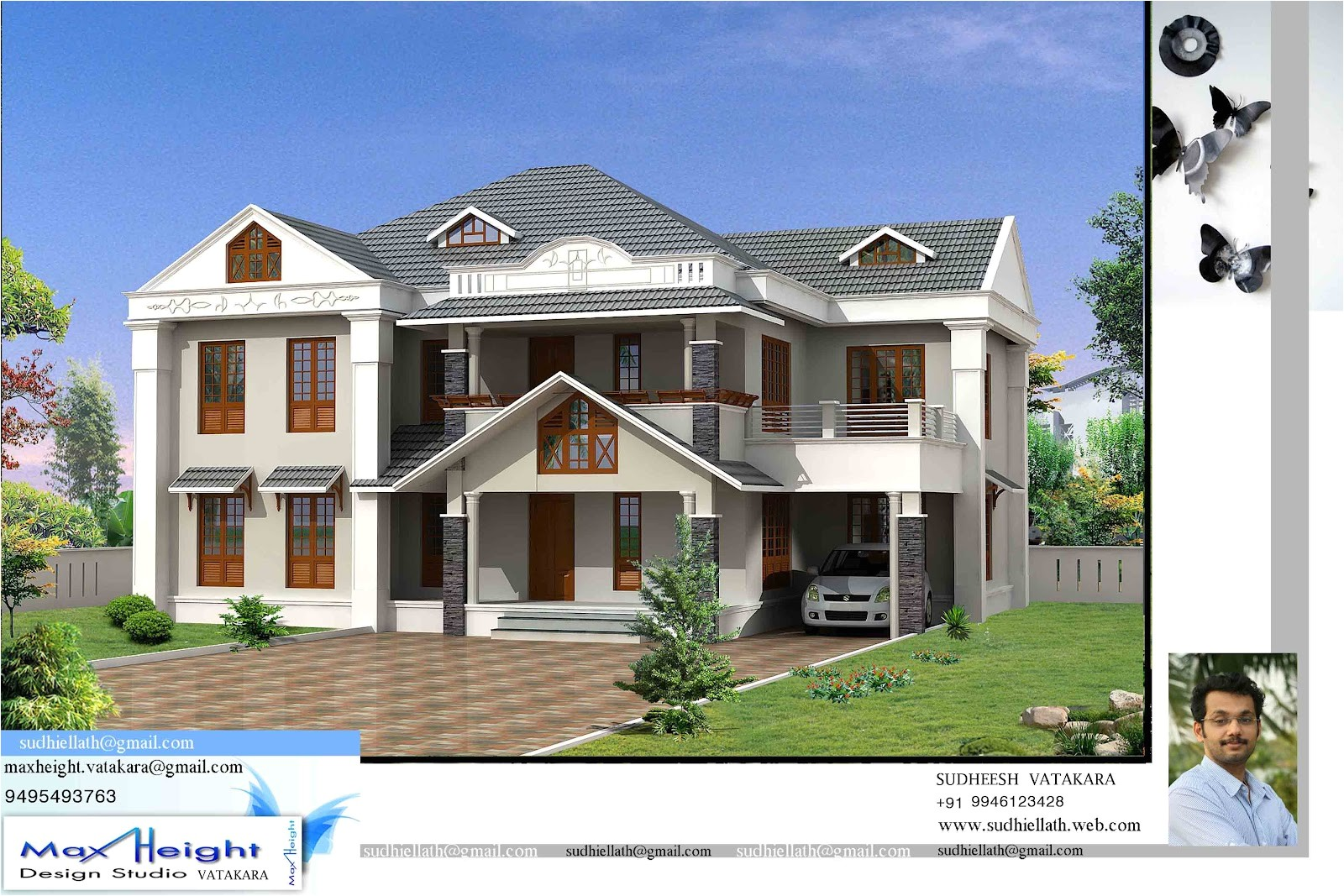 kerala house model latest style home design