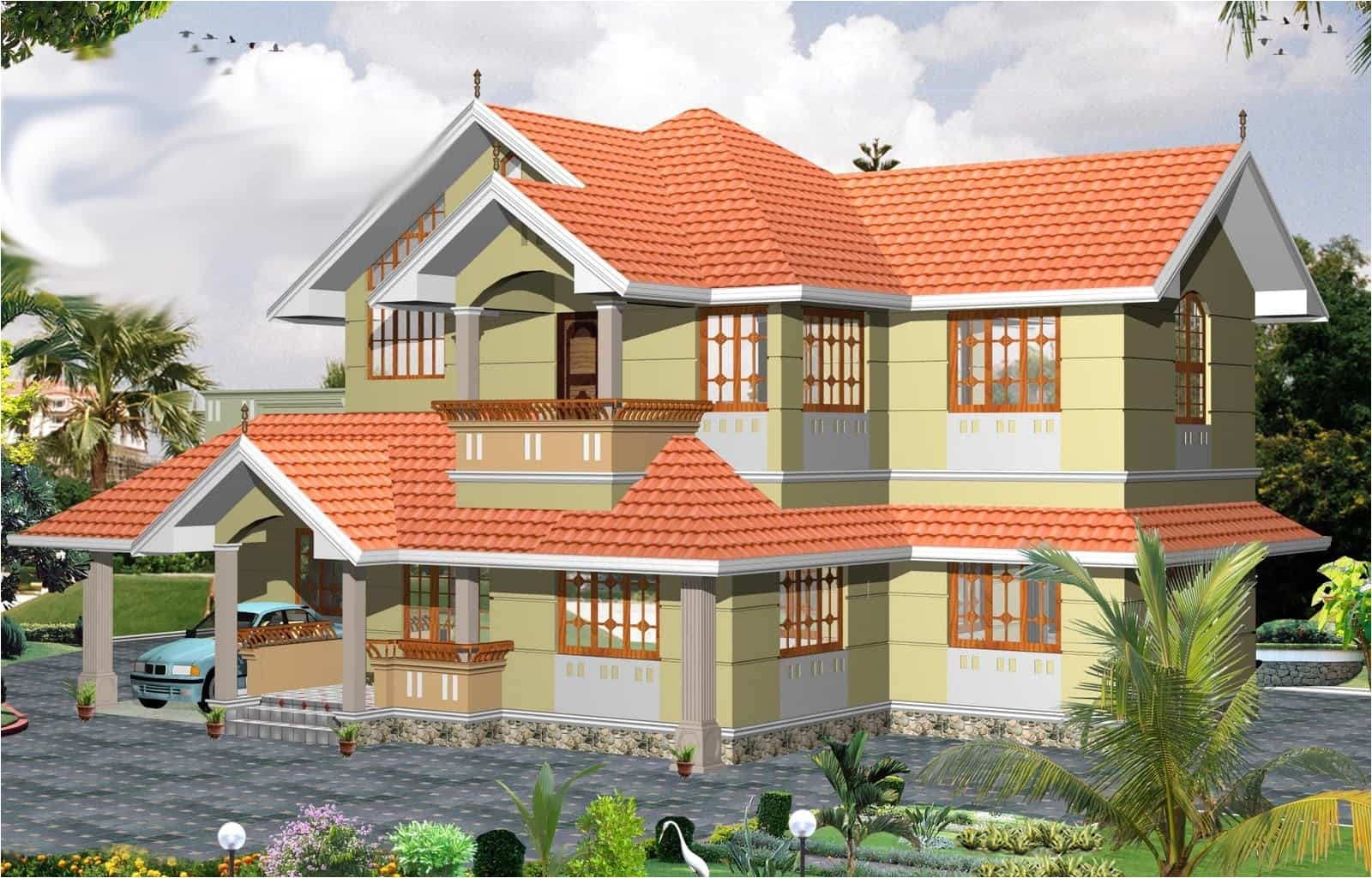 latest 3 bhk kerala home design at 2000 sq ft