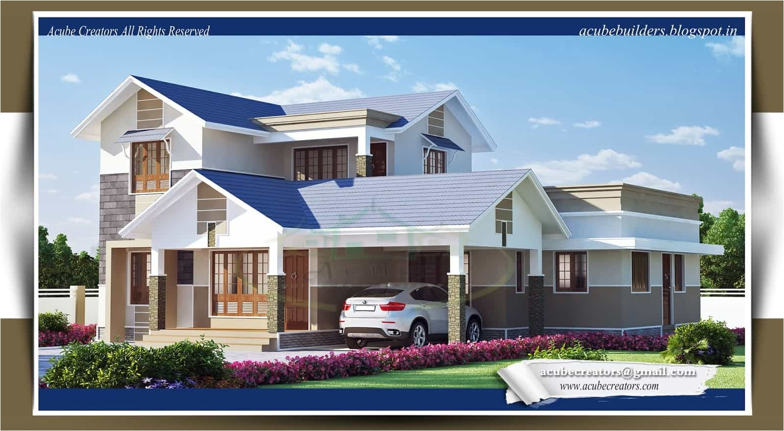 latest kerala style home design at 2169 sq ft
