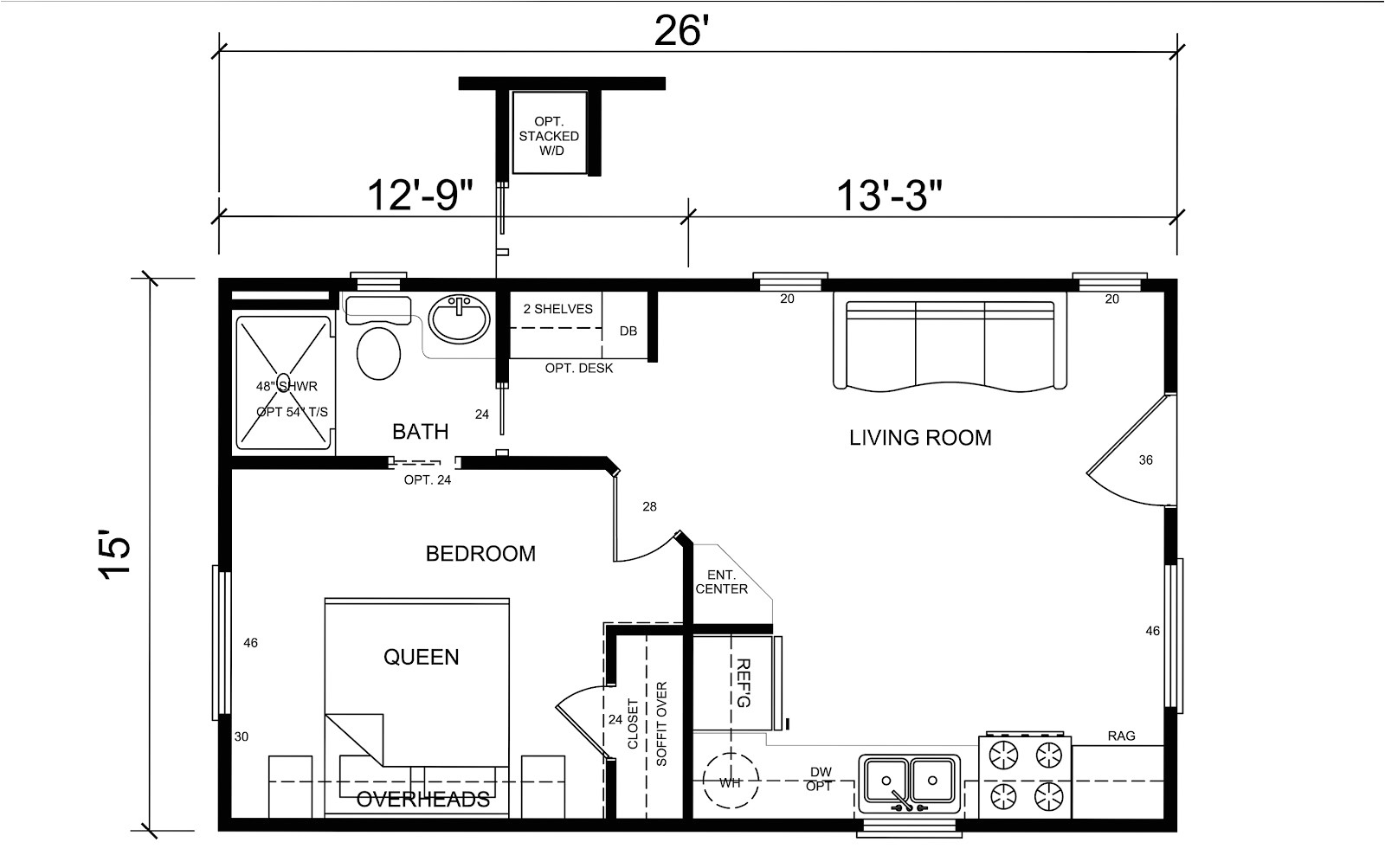 20x40 house plans small pool