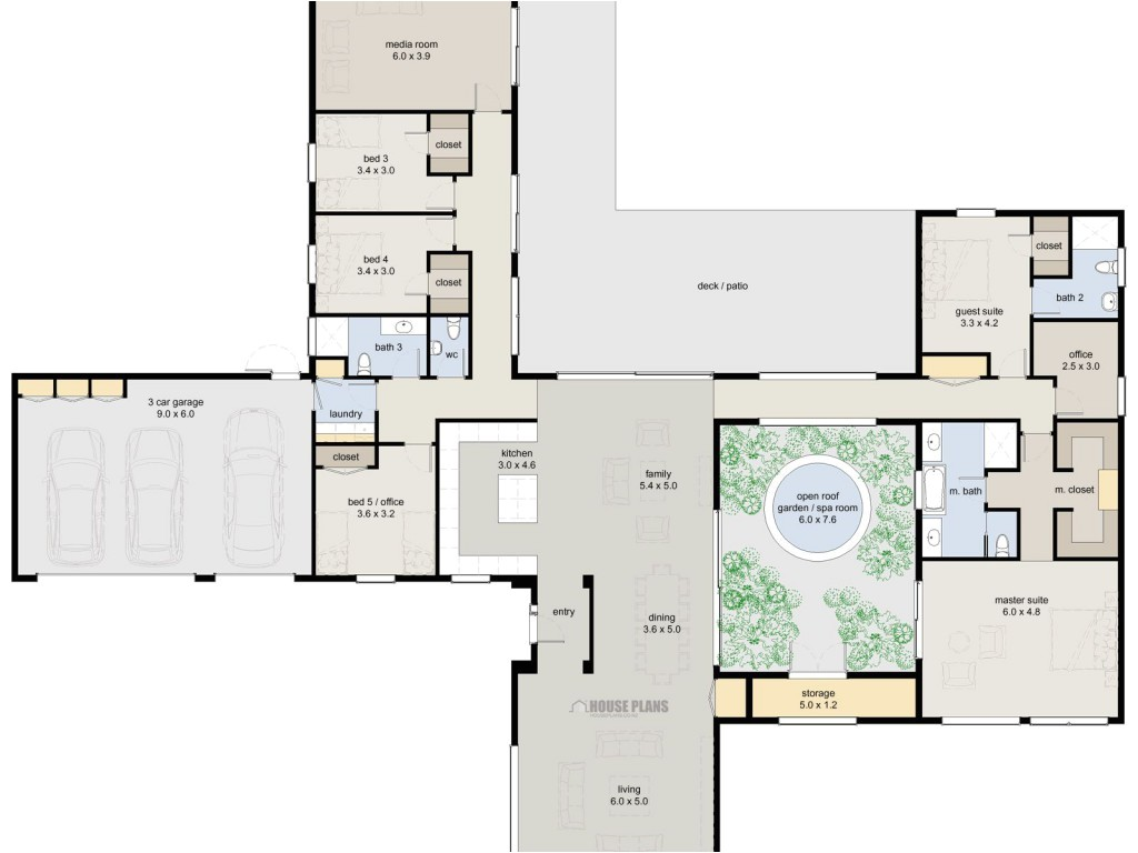 5 bedroom luxury house plans