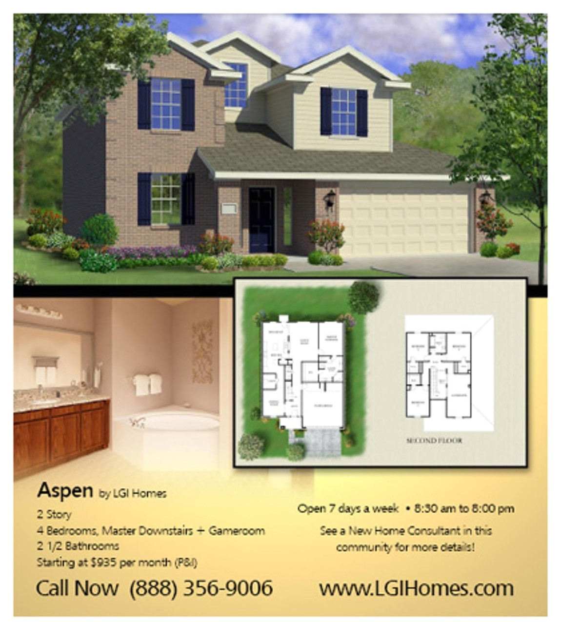lgi homes floor plans