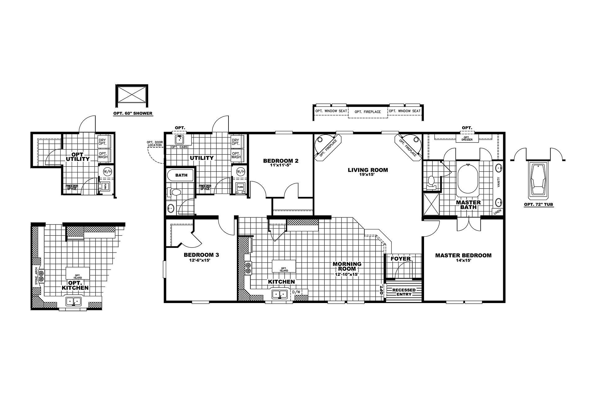 manufacturedhomefloorplan floorplan 4795 state tx city blum