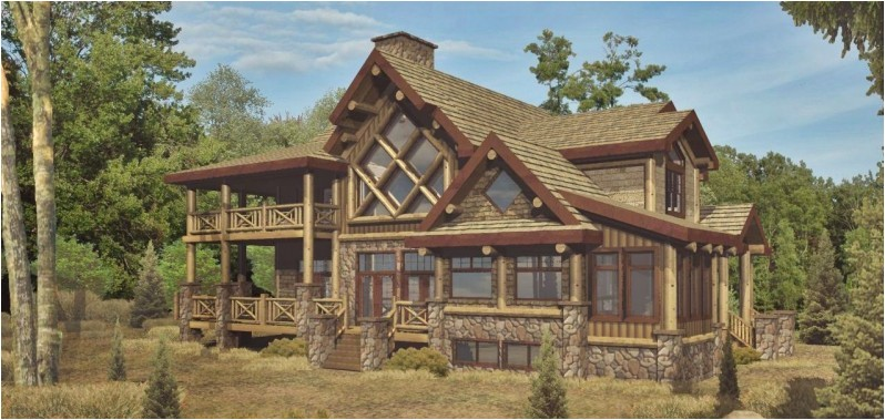 log home floor plans with garage and basement